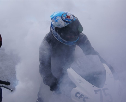 Rennsport, Motorradwerkstatt Lemgo, ASTPower, Burnout nach Langstrecke